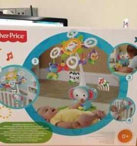Детский музыкальный мобиль на кроватку FisherPrice