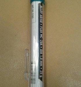 Припой ПОС 61 с канифолью, диаметр 1мм, 20 гр