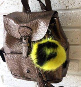 Новый рюкзак натур. Кожа