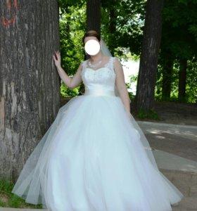 Свадебное платье+украшения