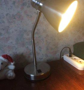 Настольная лампа нержавейка