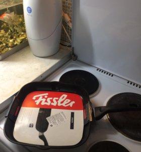 Fissler сковорода-гриль с антипригарным покрытием