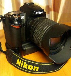 Фотокамера Nikon D90 KIT vr18-105+ ручка+ подарки