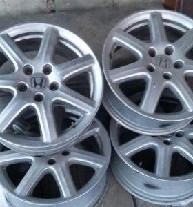 Литые диски r17  хонда