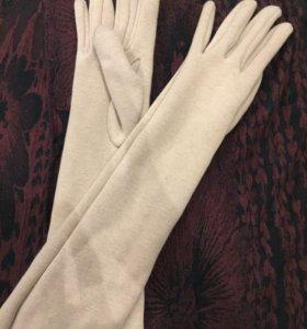 Перчатки до локтя