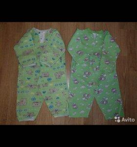 4 пижамки на мальчика или девочки 1.5-3 года