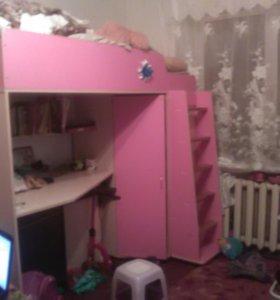 Кровать чердак для принцессы!!