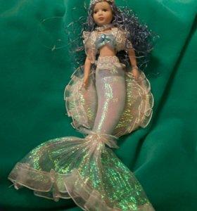 Кукла фарфоровая русалка
