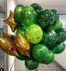 23 февраля с воздушными шарами!