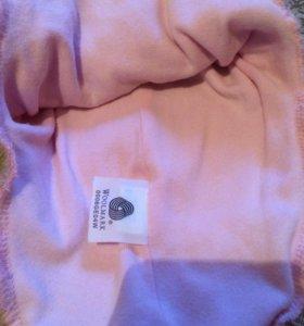 Шлем шапка Reima 52 розовая шерстяная Детская