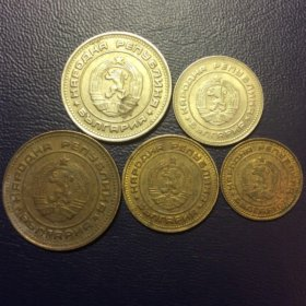 Комплект монет Болгарии 1974 года