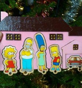 Ключница Simpsons. Ручная работа