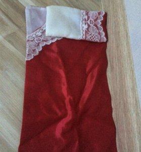 Подушка и одеяло для куклы