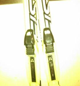Лыжи фишер с креплением