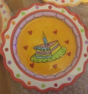 Праздничные тарелки