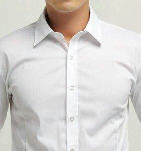 Рубашки приталенная/классические белые VIKTORIO