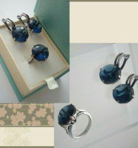 Набор бижутерии серьги и кольцо