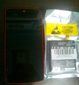 Экран и аккумулятор Nexus 5