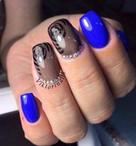 Маникюр, гель-лак, наращивание ногтей