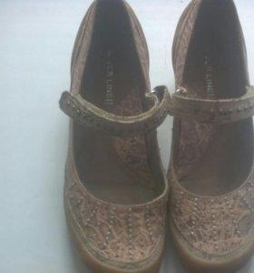 Туфли натуральная кожа,36-36,5