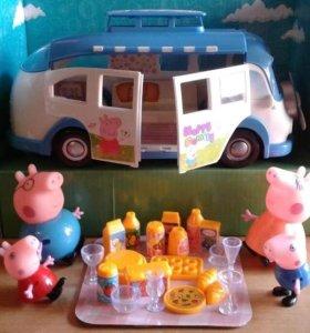 Автобус свинки Пеппы с набором для пикника