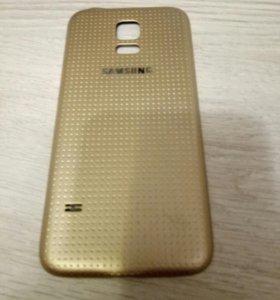 Крышка на Samsung Galaxy s5 mini (gold)