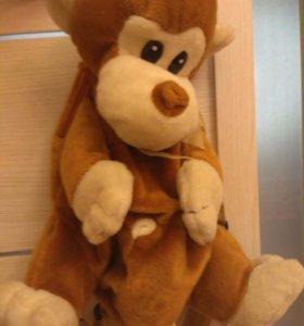 Маленький детский рюкзачок, обезьянка