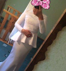 Платье на никах, свадьбу
