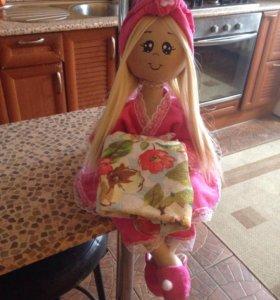 Кукла держатель туалетной бумаги и полотенец