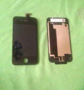 iPhone 4 Передний модуль и задняя крышка.