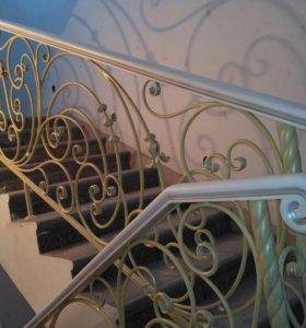 Лестницы,  перила,  ковка