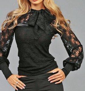 Роскошная блуза, выполненная из гипюра