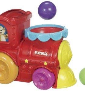 Музыкальный паровоз с шариками