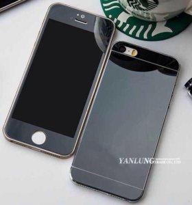 Защитное Чёрное стекло на Айфон 4-4s,5-5s,se