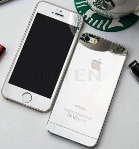 Серебряное стекло на Айфон4-4s,5-5s,6-6s