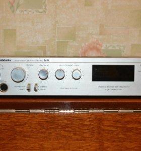 Усилитель и колонки радиотехника s90