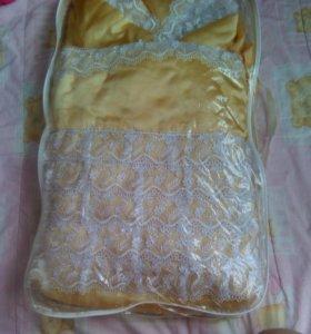 Конверт-одеяло на выписку димесизонный для девочки
