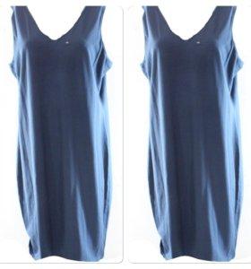 Синее удобное домашнее платье