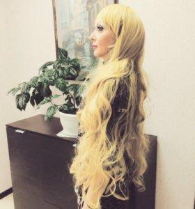 Парик длинные волосы с челкой