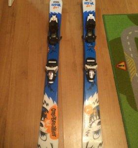 Горнолыжный комплект детский-ботинки,лыжи,палки