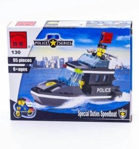 Конструктор лего Полицейский катер