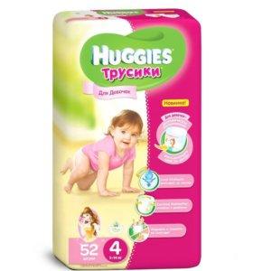 Подгузники-трусики Huggies ultra comfort 4 52шт.