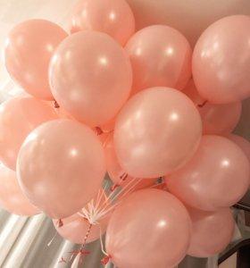 Розовые воздушные шары