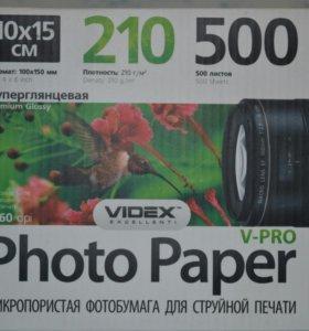 микропористая фотобумага для струйной печати Videx