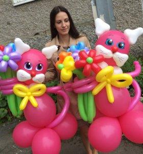 Кошечки из шариков