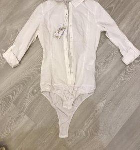 Новая рубашка-комбидресс белая pull&bear