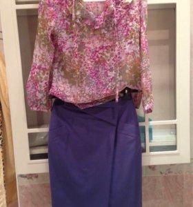 Юбка и блузка шёлк Ki.Mono