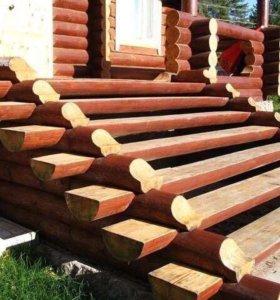 отделка деревянных домов, заборы, установка печи