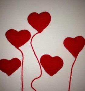 Сердечки для букетов