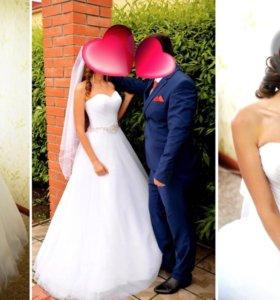 Продам красивое свадебное поатье